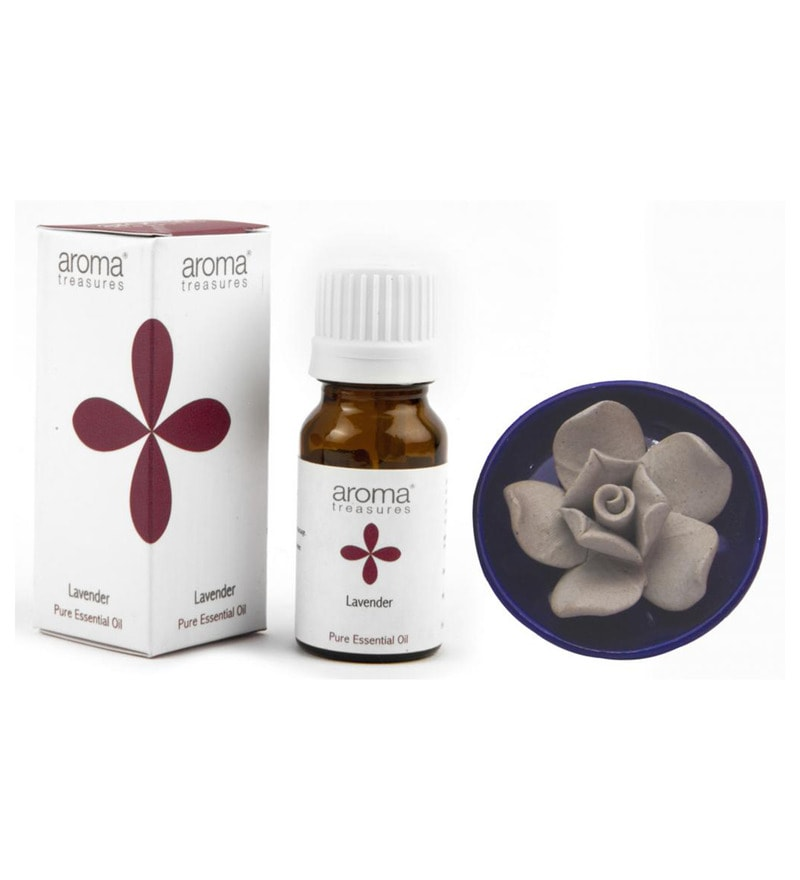 Lavender Essential with Diffuser by aroma treasures