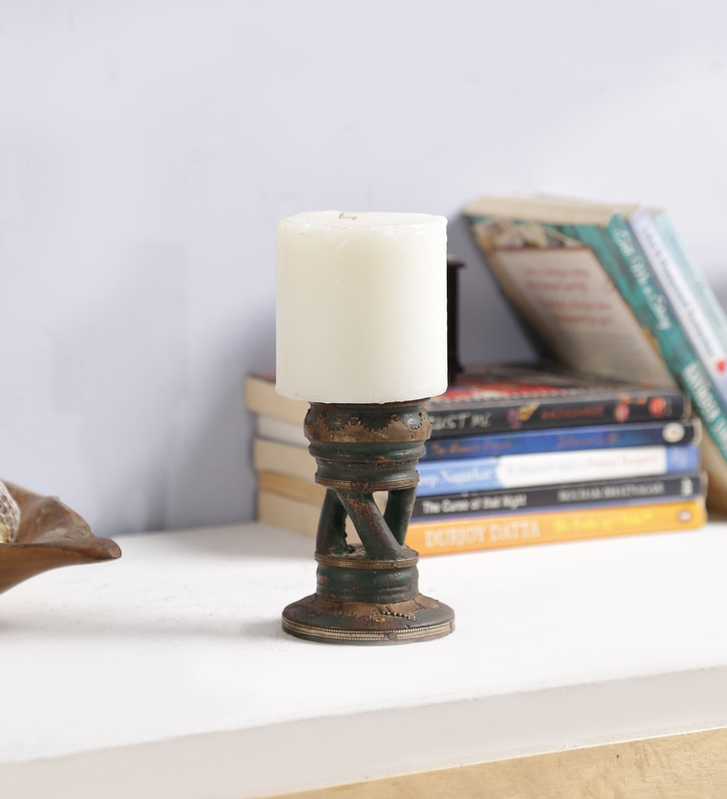 Wenge Solid Wood Candle Holder by Art of Jodhpur