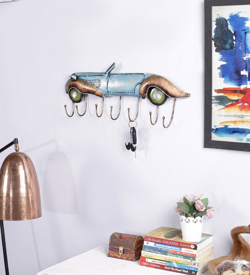 Multicolour Metal Key Holder by Art of Jodhpur