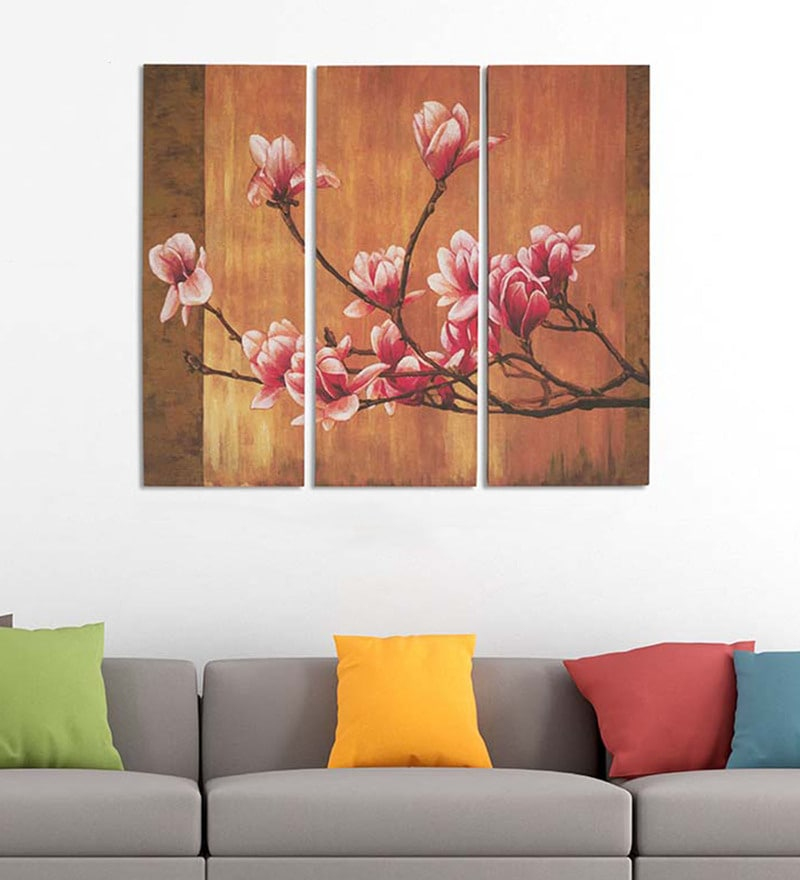 Art Street Cotton & Canvas 24 x 30 Inch Orchid - Set of 3