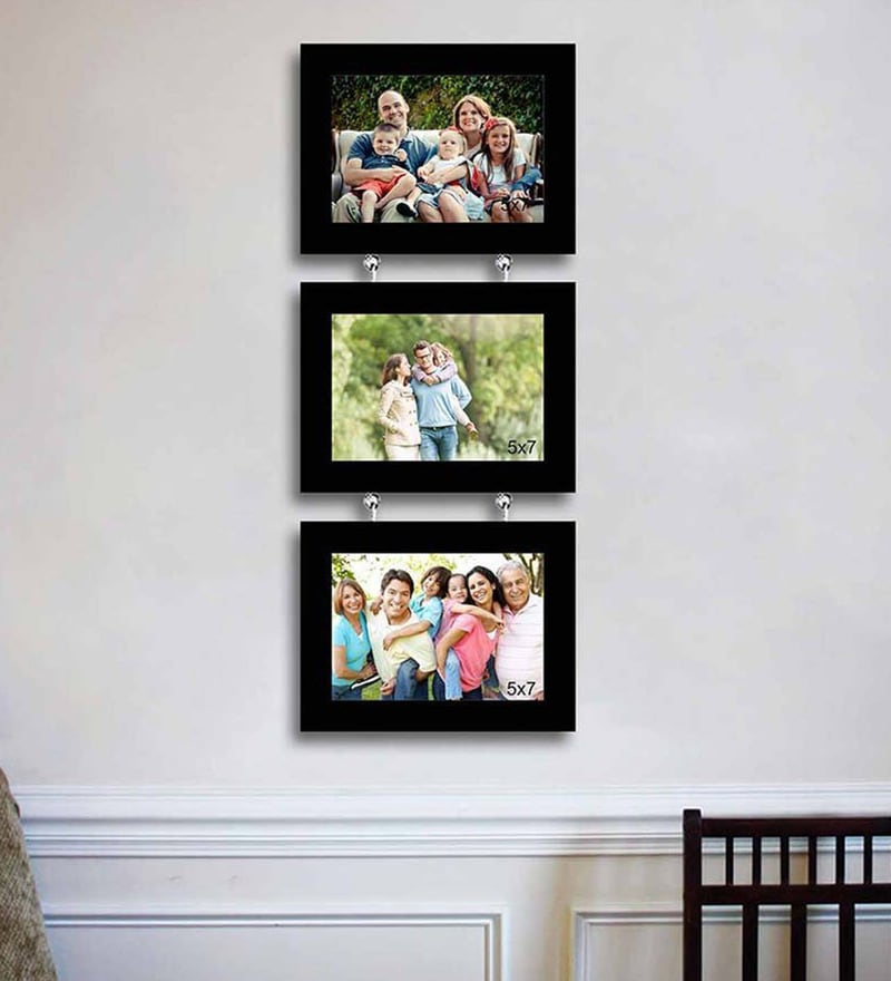 Synthetic Wood 23 x 9 Impressive Chain Drop Photo Frame - Set of 3 by Art Street
