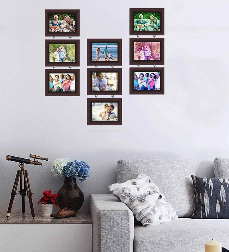 Synthetic Wood 31 x 29 Chain Drop Photo Frame - Set of 9 by Art Street