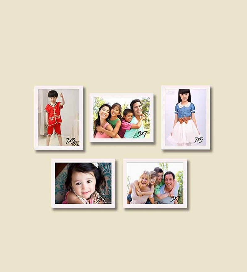 Collage Picture White Fiber Photo Frame by Art Street