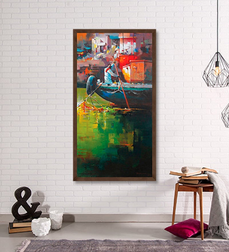 Canvas 20 x 40 Inch Untitled Framed Limited Edition Digital Art Print by Satheesh Kanna by ArtCollective