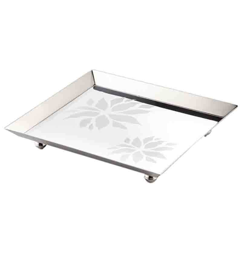 Arttdinox Flower Stainless Steel Platter