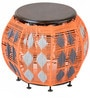 Archer Round Pouffe in Multicolour by Inliving