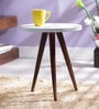 Arlington Tripod Table In Dual Tone Finish by Woodsworth