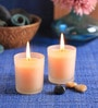 French Lavender Frosted Scented Votive Candle - Set of 2 by Aroma India