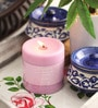 Aroma India Lavender Scented Colour Pillar Candle