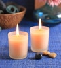 Morning Dew Frosted Scented Votive Candle - Set of 2 by Aroma India