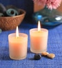 Pine & Lemon Frosted Scented Votive Candle - Set of 2 by Aroma India