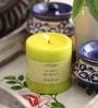 Vanilla French Scented Colour Pillar Candle by Aroma India