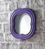 Blue Solid Wood Decorative Mirror by Art Creation