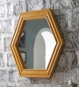 Brown Solid Wood Decorative Mirror by Art Creation