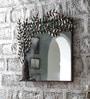 Art Creation Multicolour Iron Tree Deign Framed Mirror