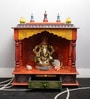 Multicolour MDF & Mango Wood One Drawer Painted Temple by Art Creation
