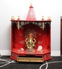Art Creation Multicolour MDF & Mango Wood Open One Drawer Painted Temple