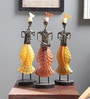 Art Creation Multicolour Metal Figurine - Set of 3