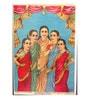 Original Oleograph - Ravi Varma Press(1892-1972) -Ahilya, Draupadi, Seeta, Tara, Mandodari<br />(Panchkanya) - 10 X 14 Inch on Paper