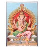 Original Oleograph - Ravi Varma Press(1892-1972) -Ganapati - 10 x 14 Inch on Paper