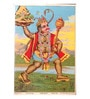 Original Oleograph - Ravi Varma Press(1892-1972) -Mahaveer Hanuman - 10 x 14 Inch on Paper