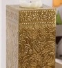 Gold Metal Candle Stand by Art of Jodhpur