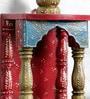 Multicolor Solidwood Jodhpuri Hand painted Temple by Art of Jodhpur