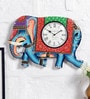 Art of Jodhpur Multicolor MDF 17 x 12.5 Inch Wall Clock