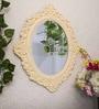 Beige MDF Victorian Riviera Decorative Wall Mirror by Art Street