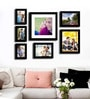 Black Fibre Wood Cultured Individual Wall Photo Frame - Set of 7 by Art Street