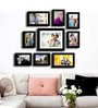 Black Fibre Wood Edge Orientation Individual Wall Photo Frame - Set of 9 by Art Street