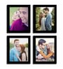 Black Fibre Wood Individual Photo Frame - Set of 4 by Art Street