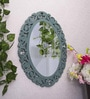 Art Street Blue MDF Rosette Decorative Wall Mirror