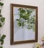 Art Street Brown Synthetic Wood Adornment Wall Mirror