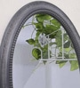 Grey MDF Dewdrop Minimalist Wall Mirror by Art Street