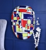 Art Tantra Multicolour Resin with Acrylic Paint Mondrian Mask