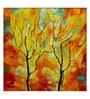 Art Zolo Canvas 12 x 12 Inch Season Orange Unframed Artwork Painting