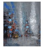 Art Zolo Canvas 15 x 18 Inch Grey Monsoon Unframed Artwork Painting
