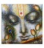 Art Zolo Canvas 16 x 16 Inch Krishna Playing Flute Ii Unframed Artwork Painting