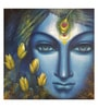 Art Zolo Canvas 24 x 24 Inch Krishna Unframed Artwork Painting