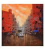 Art Zolo Canvas 24 x 24 Inch Orange Sky Unframed Artwork Painting