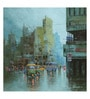 Art Zolo Canvas 24 x 24 Inch Rainy Day in Kolkata Ii Unframed Artwork Painting