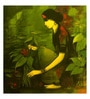 Art Zolo Canvas 24 x 24 Inch Woman with Plant Unframed Artwork Painting