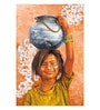Art Zolo Canvas 24 x 36 Inch Village Girl Unframed Artwork Painting