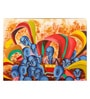 Art Zolo Canvas 30 x 24 Inch Celebration of Colours Unframed Artwork Painting
