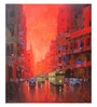 Art Zolo Canvas 36 x 42 Inch Good Morning Kolkata I Unframed Artwork Painting
