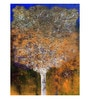 Art Zolo Canvas 36 x 48 Inch Tree of Life Orange Unframed Artwork Painting
