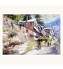Art Zolo Handmade Sheet 22 x 15 Inch Morning of Shimla Unframed Artwork Painting