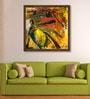 ArtCollective Canvas 18 x 18 Inch Shiva Thandavam Framed Limited Edition Digital Art Print by AV Ilango