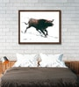 Canvas 21 x 16 Inch Bull Series Framed Limited Edition Digital Art Print by Sunil Sarkar by ArtCollective
